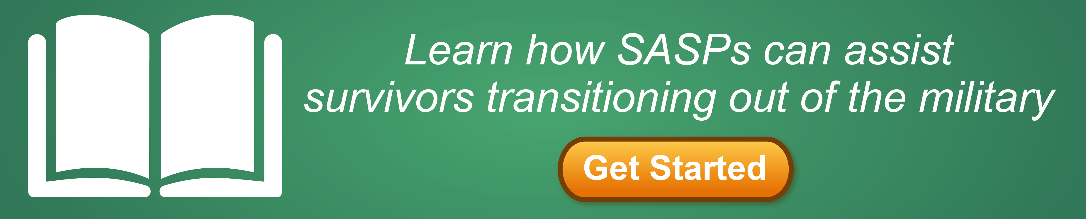 "Graphic reading ""Learn how SASPs can assist survivors transitioning out of the military"""